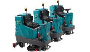 lavasciuga pavimenti elettrica nuova eureka e75 con operatore seduto produttività oraria di 4560 metri quadrati